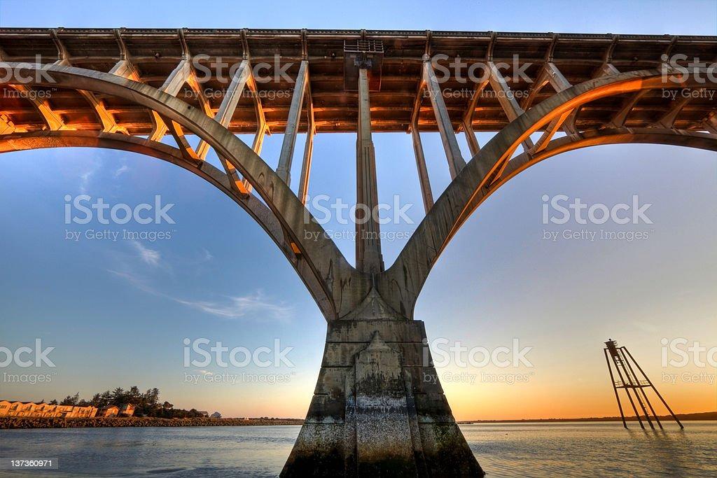 Balancing Arches at Newport Bridge royalty-free stock photo