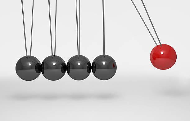 balancing balls newton's cradle - pendulum stock photos and pictures