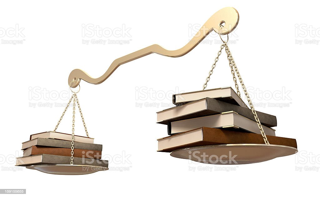 Balancing Books Scale royalty-free stock photo