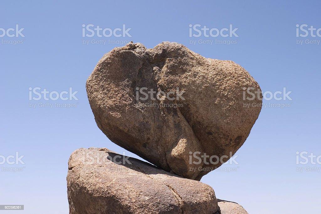 Balancing Boulder royalty-free stock photo