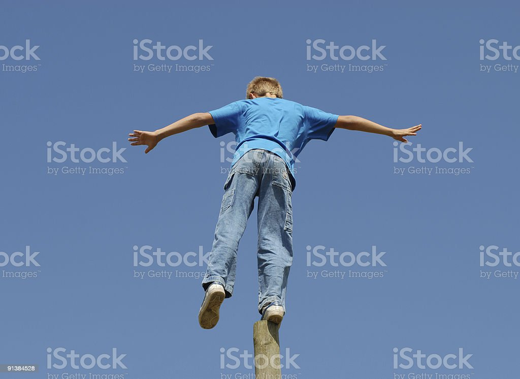 Balancing Boy royalty-free stock photo