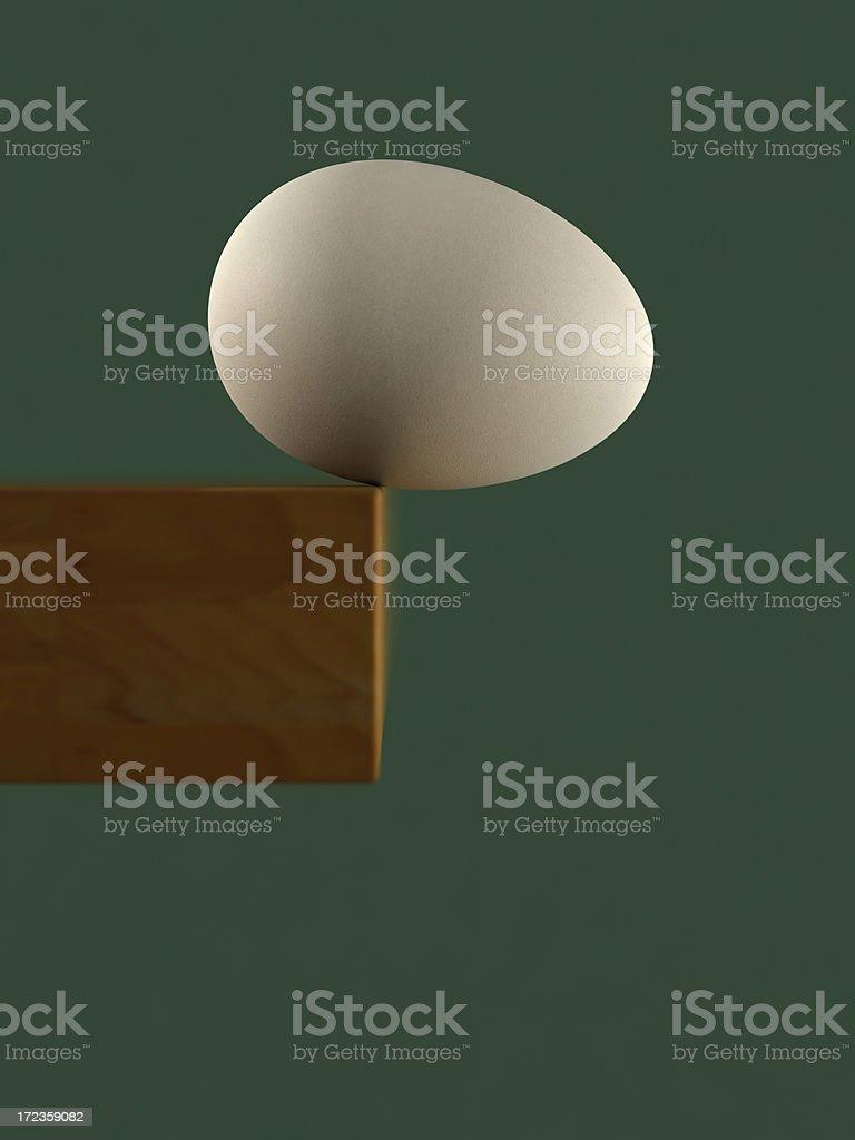 Balancing Egg royalty-free stock photo