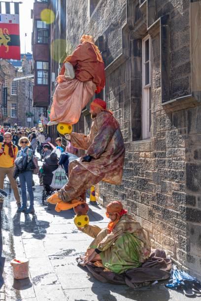Balancing Gypsies stock photo