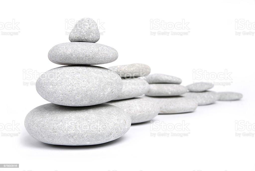 Balancing of pebbles royalty-free stock photo