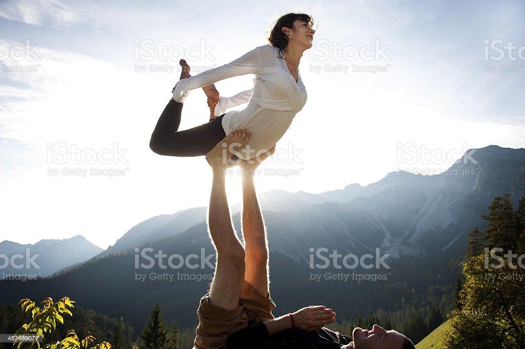 Balancing auf Füße – Foto