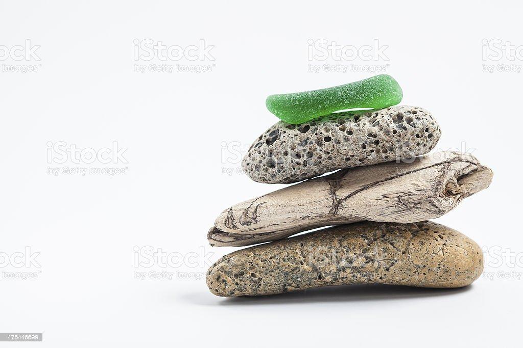 balancing pebbles royalty-free stock photo