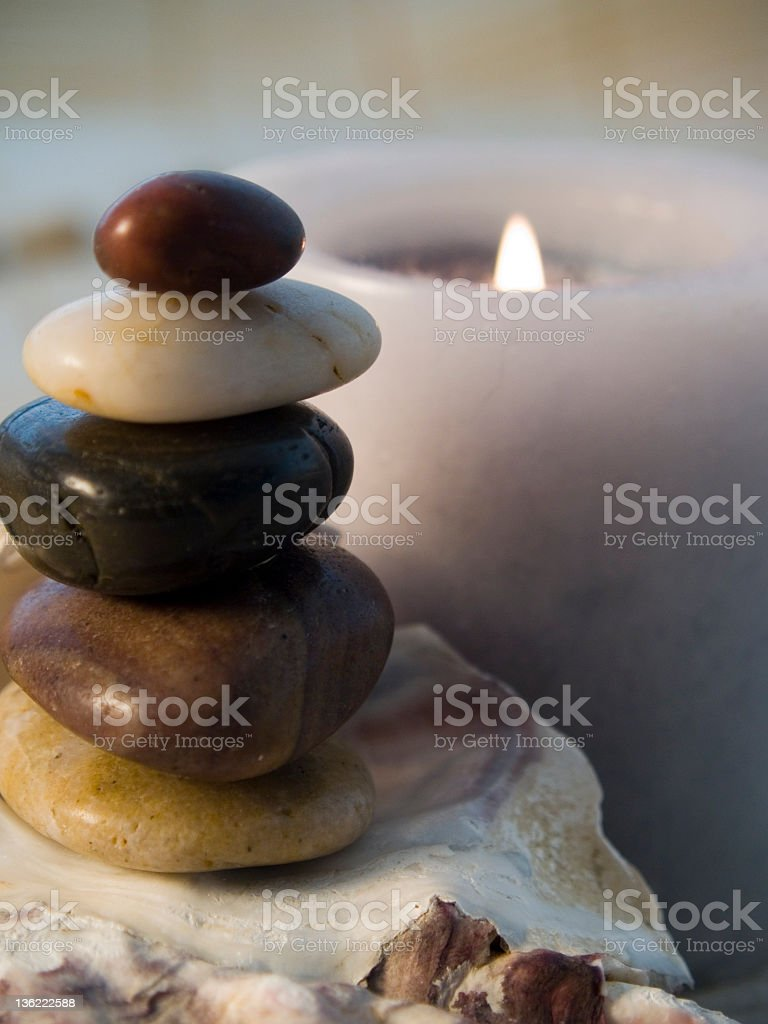 balancing rocks for life royalty-free stock photo