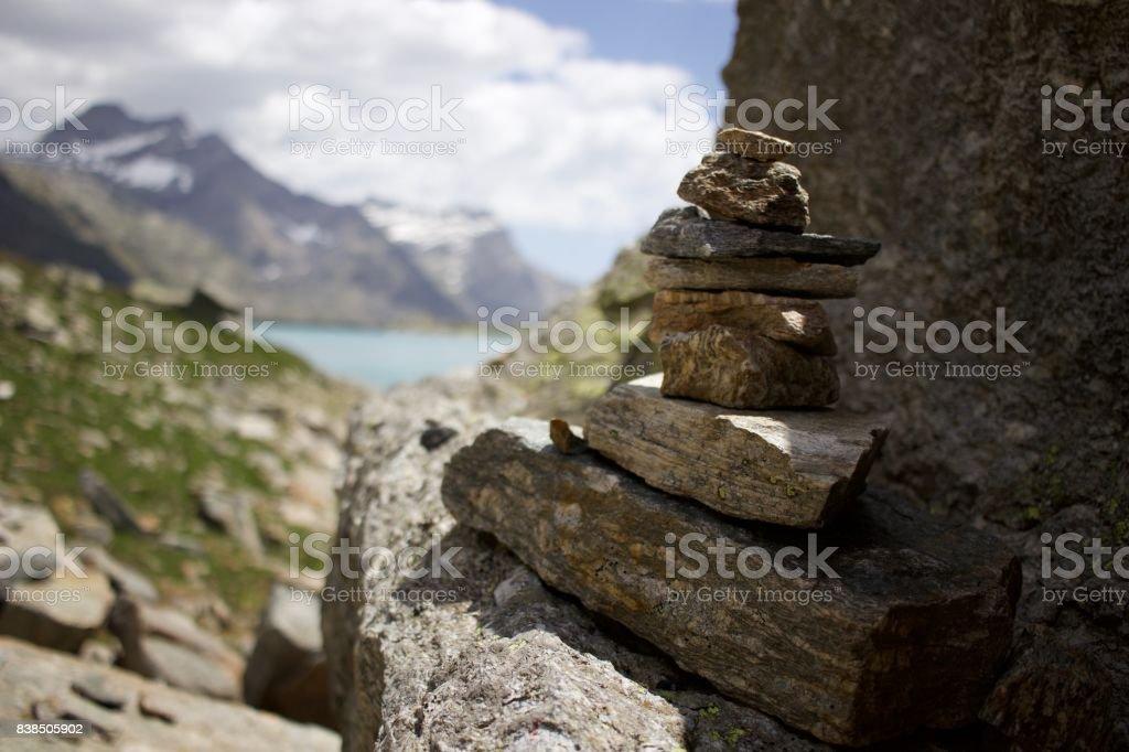 Balancing rocks stock photo