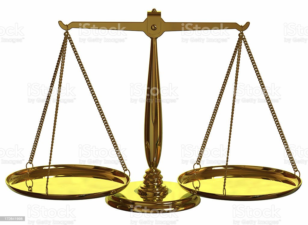 Balancing Scales royalty-free stock photo