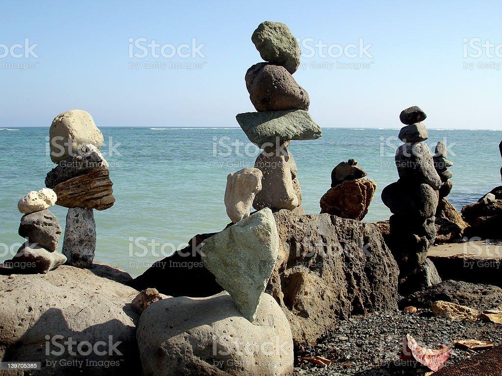 Balancing Stones III royalty-free stock photo