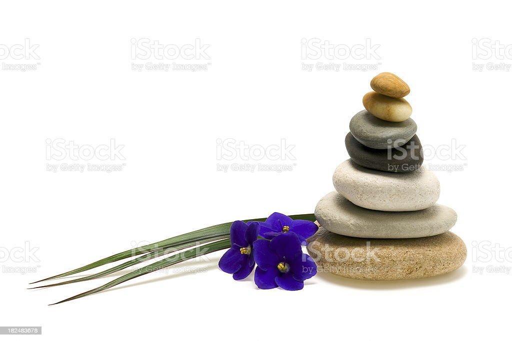 Balancing stones stock photo