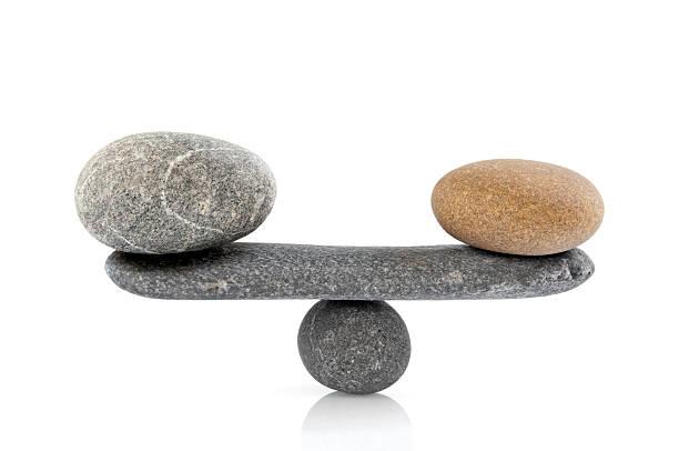 Piedras de equilibrio - foto de stock