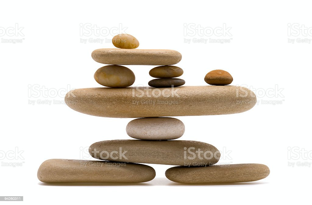 Balancing Stones royalty-free stock photo