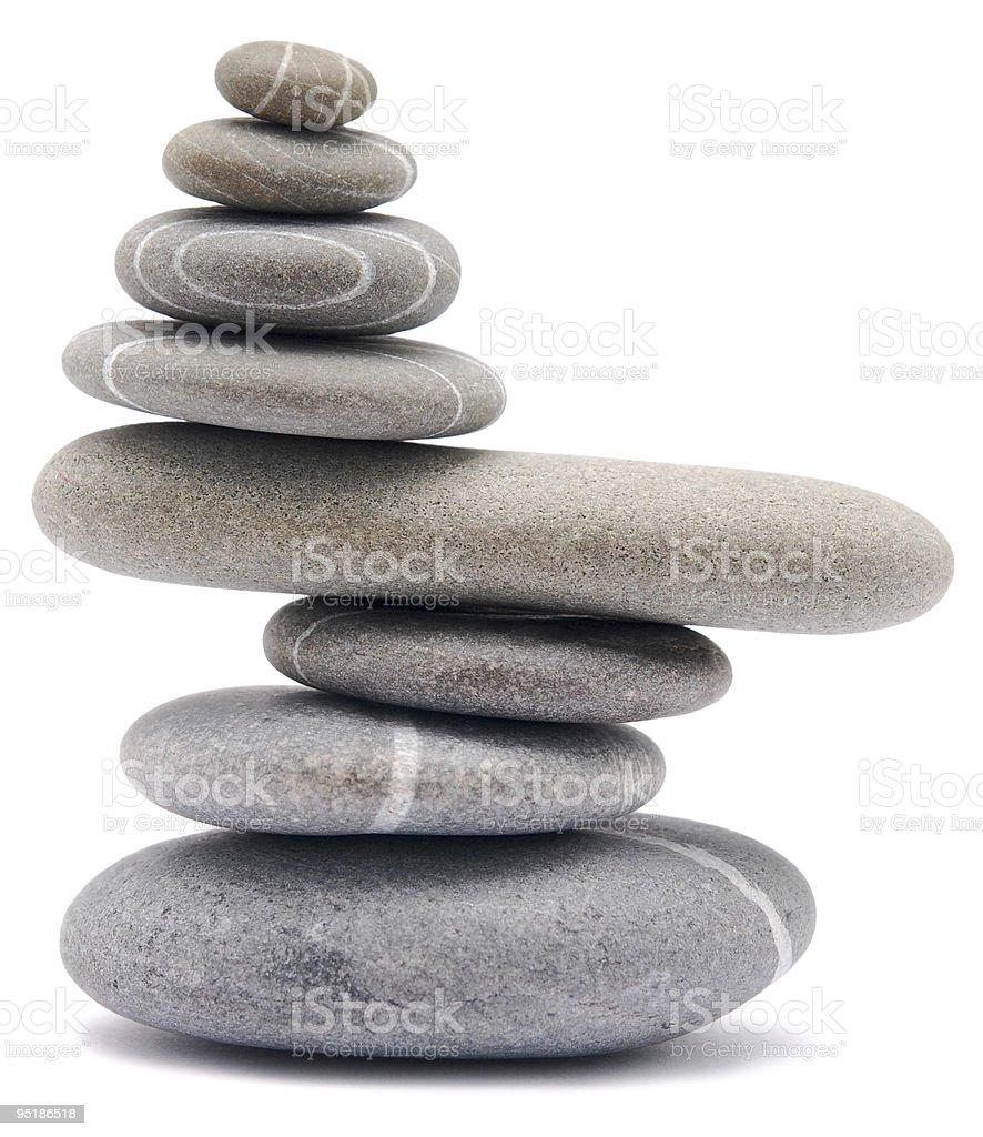 balancing Steinen Lizenzfreies stock-foto