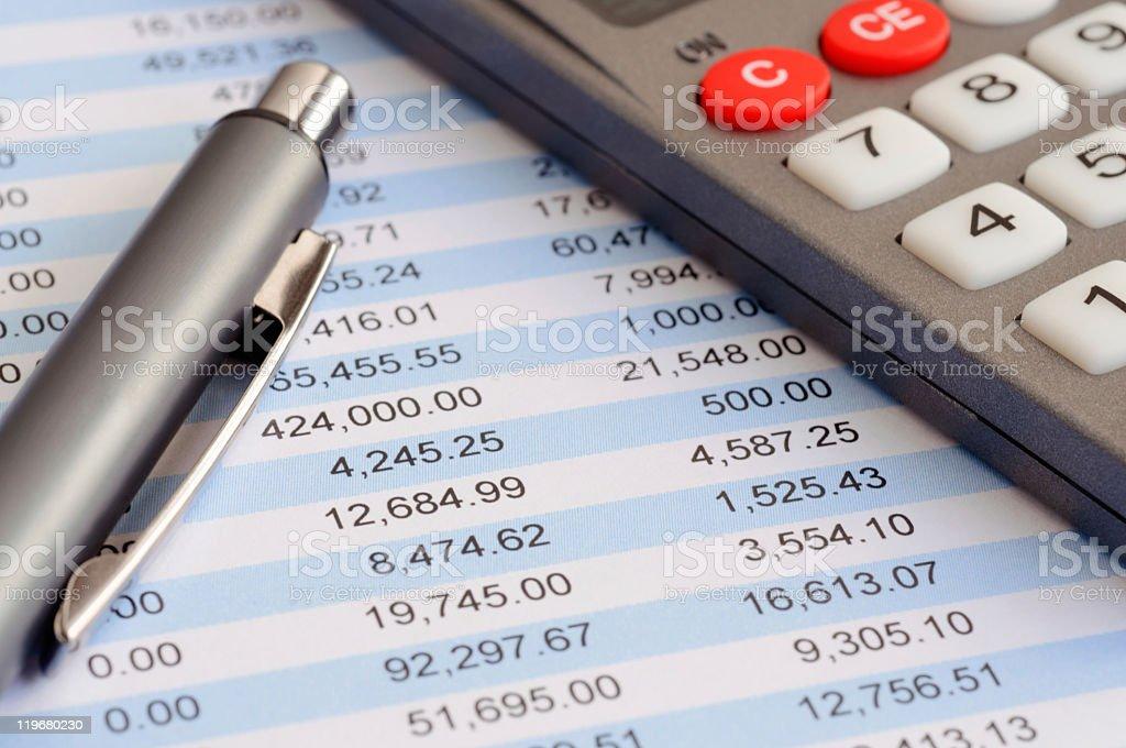 Balancing the account stock photo