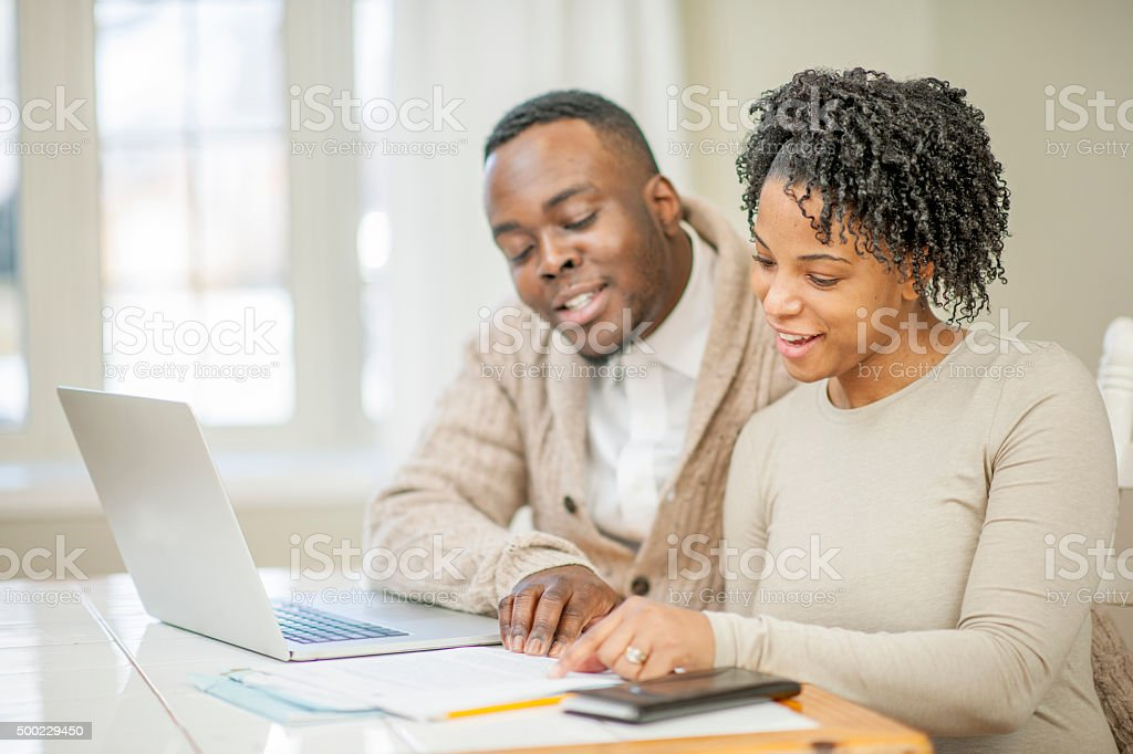 Balancing the Budget Together stock photo