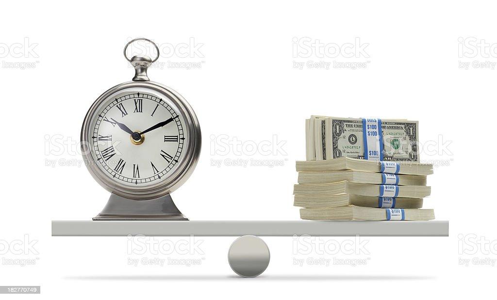 Balancing Time & Money stock photo