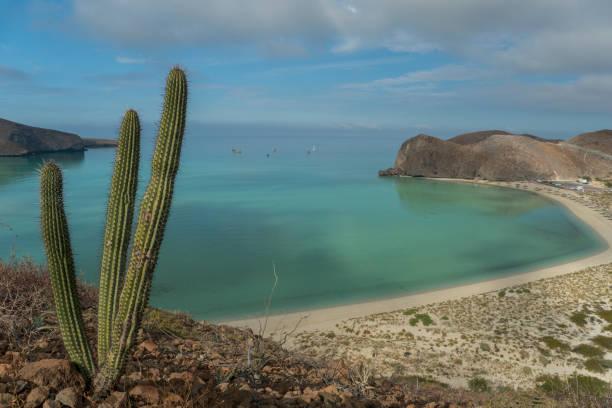 Balandra Beach on the Gulf of California near La Paz Mexico on Baja California Sur stock photo