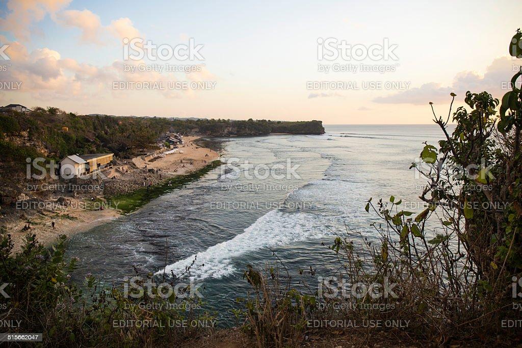 Balangan beach and its bay. Bali, Indonesia stock photo