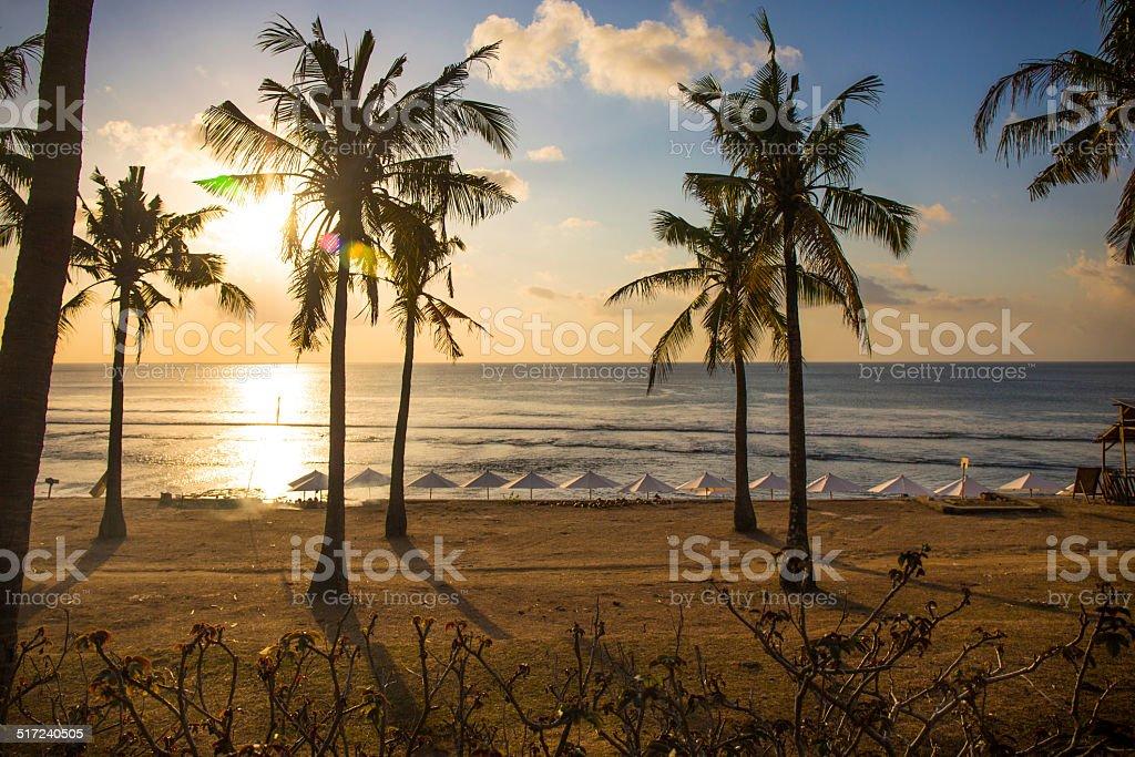 Balangan beach at sunset stock photo