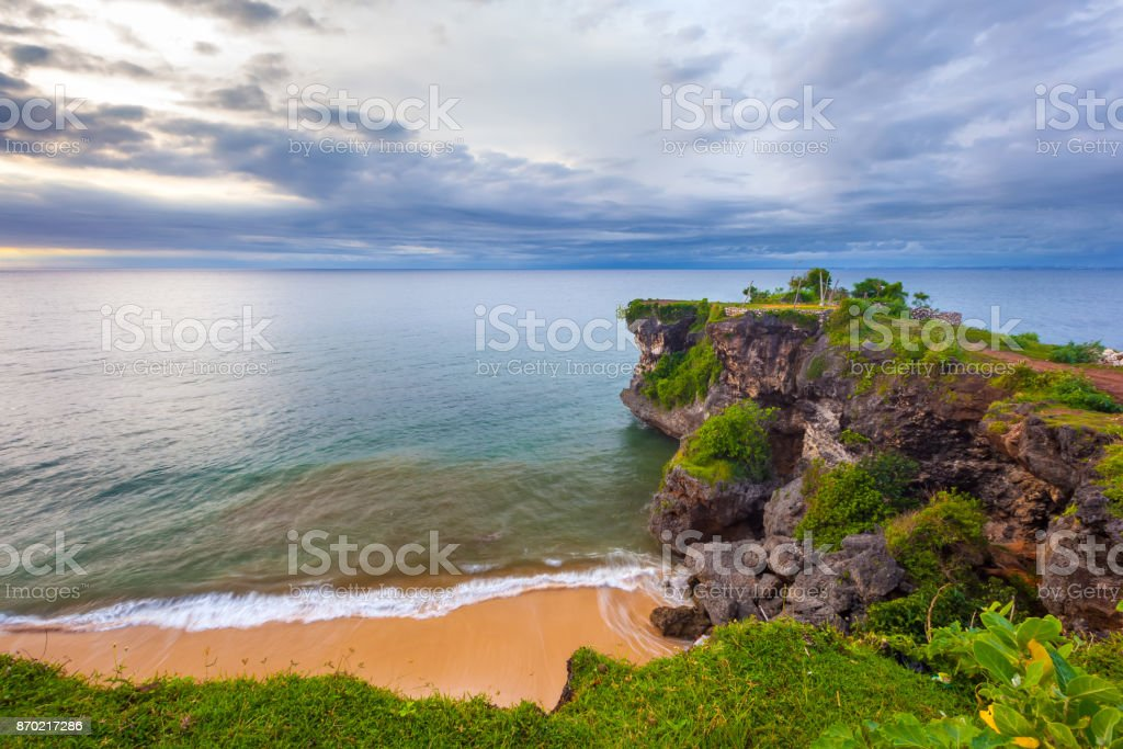 Balangan beach view, Jimbaran, South Kuta, Bali, Indonesia. stock photo