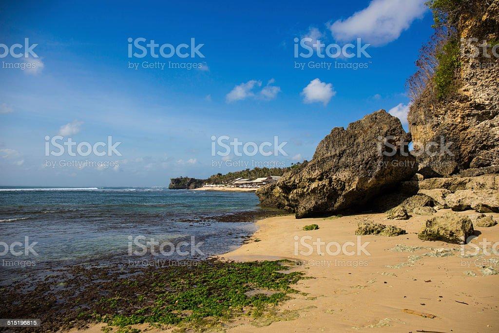 Balangan Beah and Indian Ocean stock photo