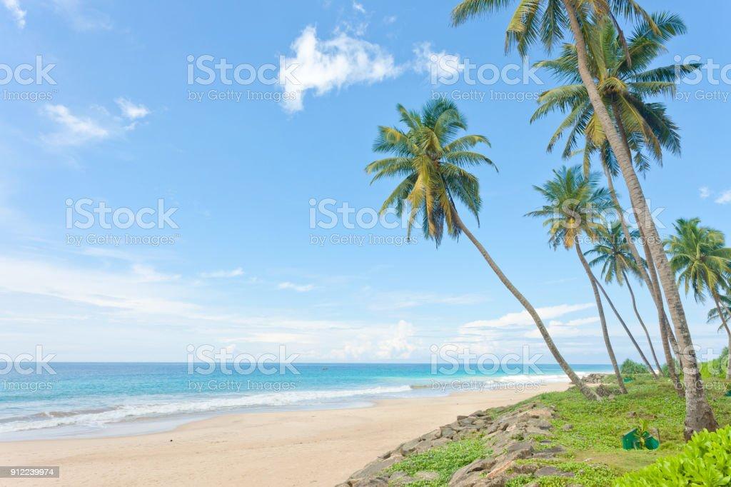 Balapitiya Beach, Sri Lanka - Beruhigung an den menschenleeren Strand Balapitiya – Foto