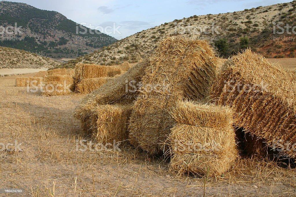 balas de paja - straw bales royalty-free stock photo