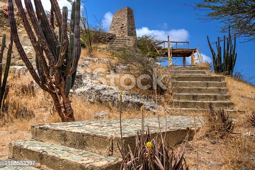 The site of former gold smelters on the Caribbean island of Aruba.