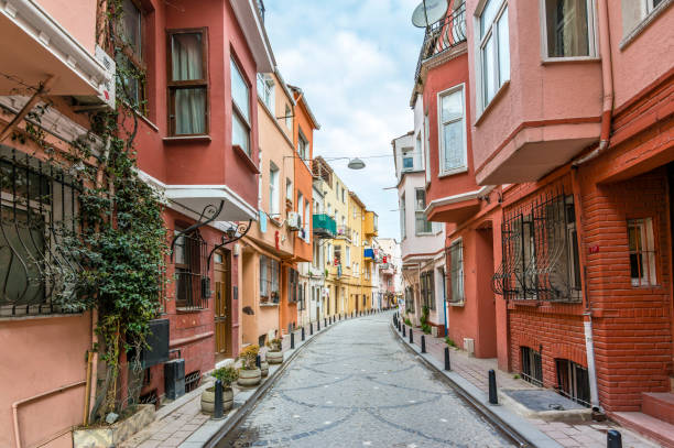 Balat District in Istanbul stock photo
