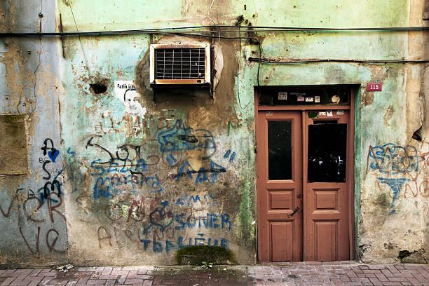 balat street stok fotoğrafı
