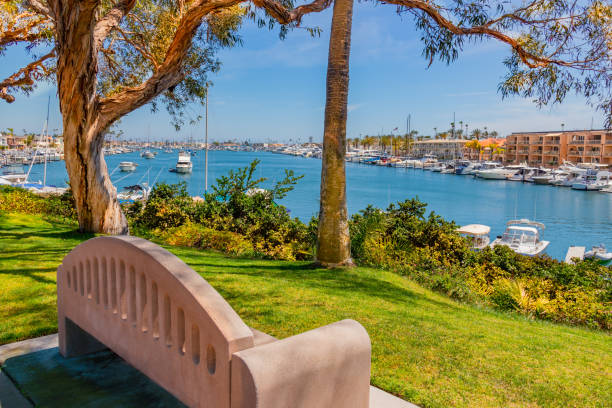 Balboa Island at Newport Beach in Southern California (P) stock photo