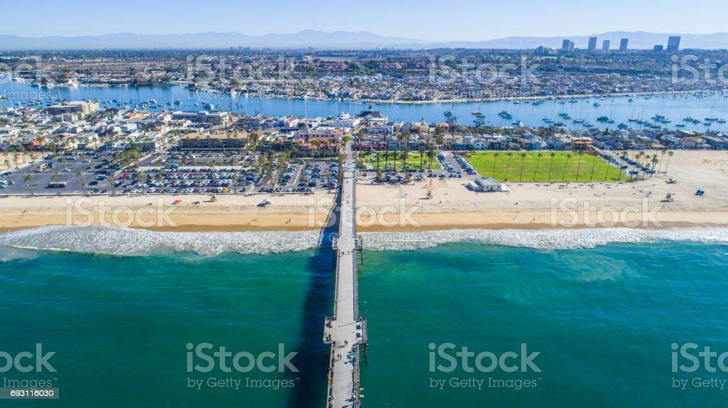 Balboa Island, Newport Beach, California stock photo