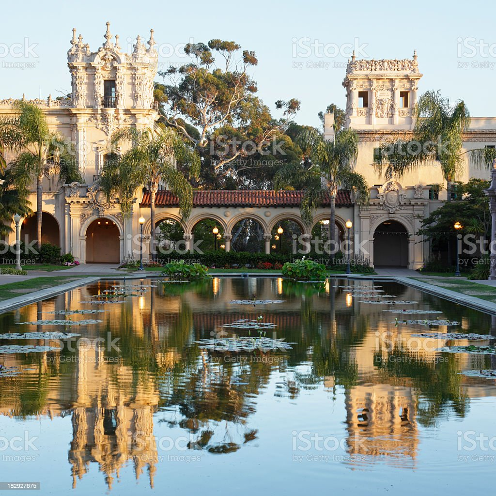Balboa Park Architecture royalty-free stock photo