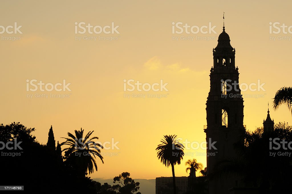 Balboa Park at Sunset - San Diego stock photo