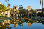 Balboa Park in reflection, San Diego