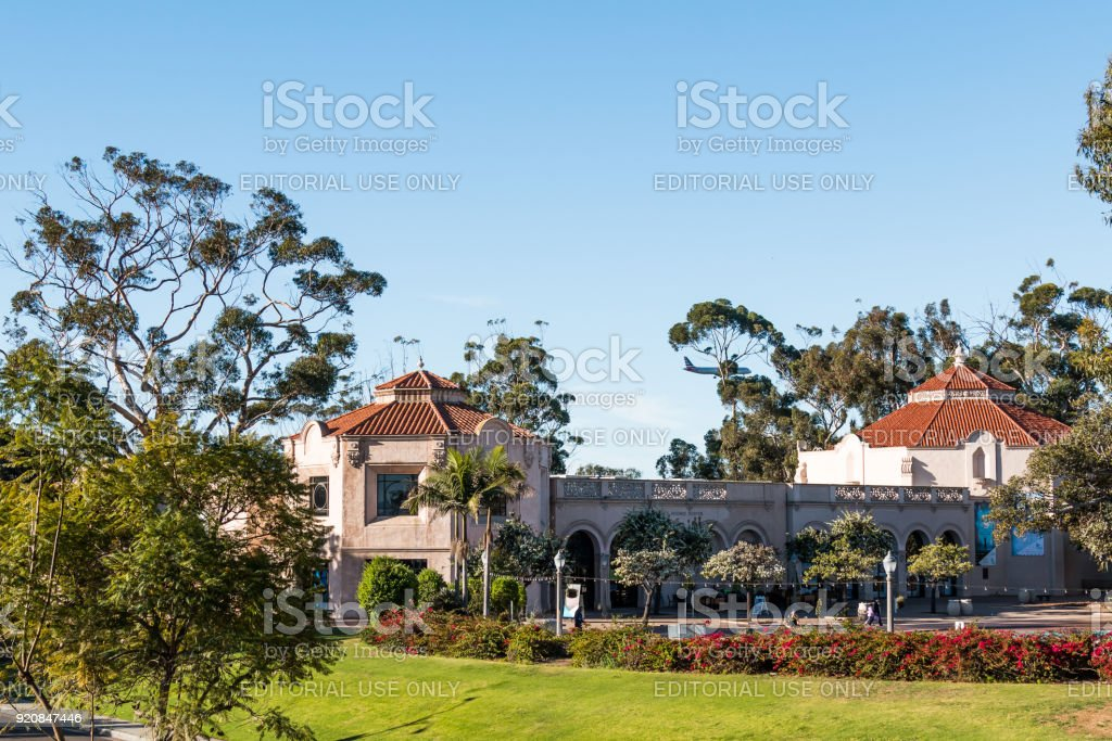 Balboa Park With Fleet Science Center stock photo