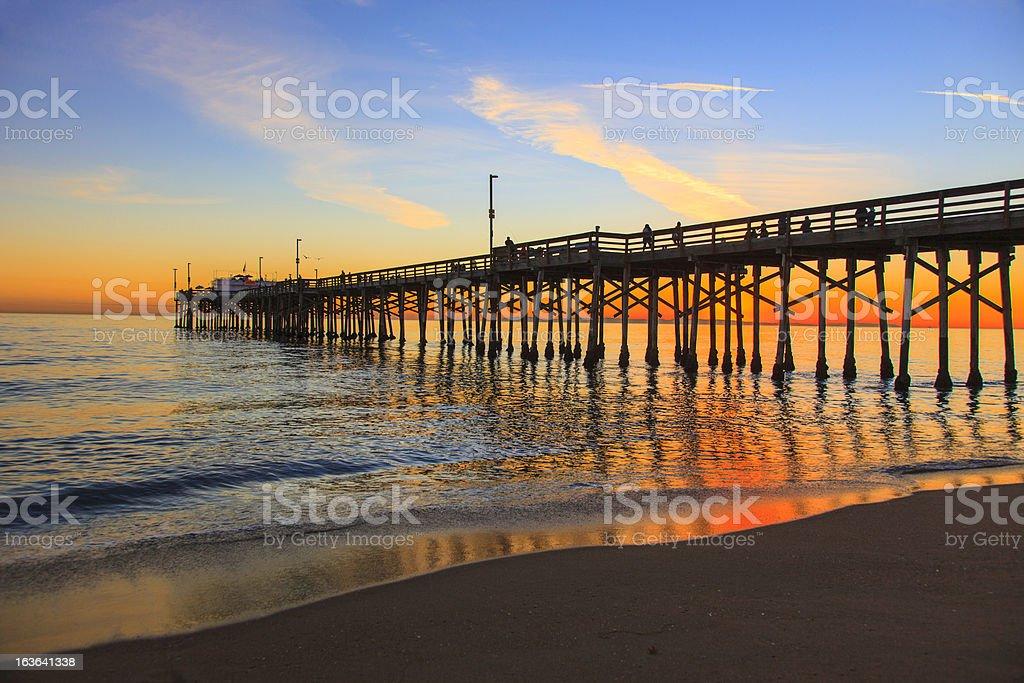 Balboa Pier, Orange County California royalty-free stock photo