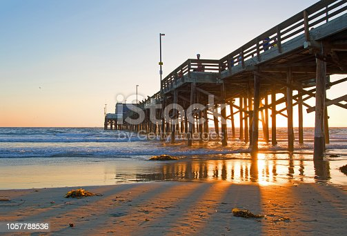 sunset at Balboa pier,Newport Beach CA