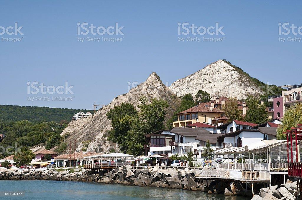 Balchik view stock photo