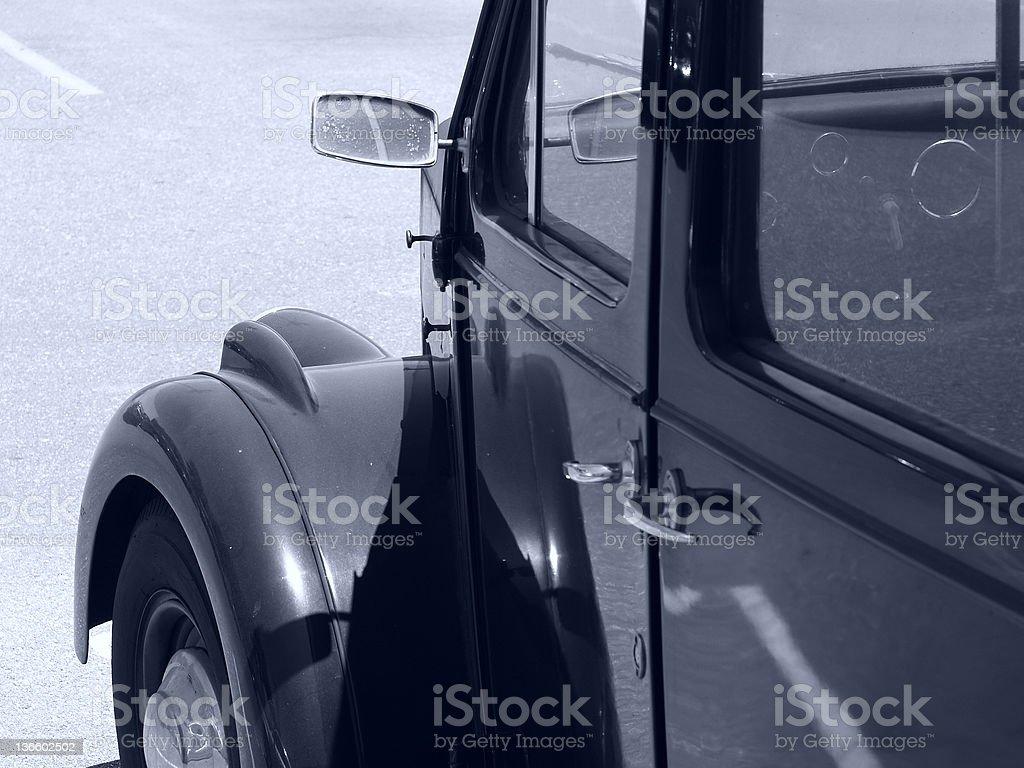 Balck Antique Car stock photo
