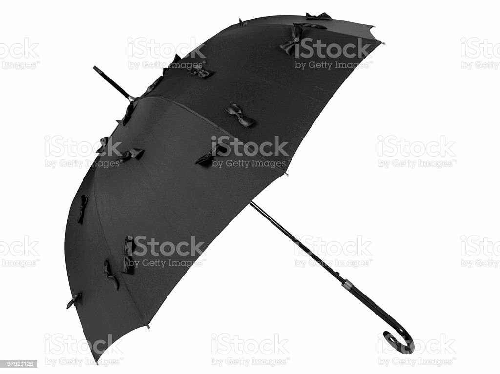 Balck umbrella royalty-free stock photo