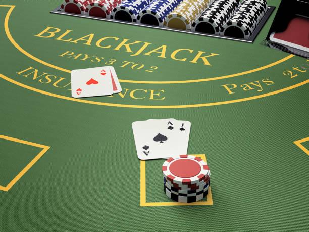 balckjack casino bord - black jack bildbanksfoton och bilder