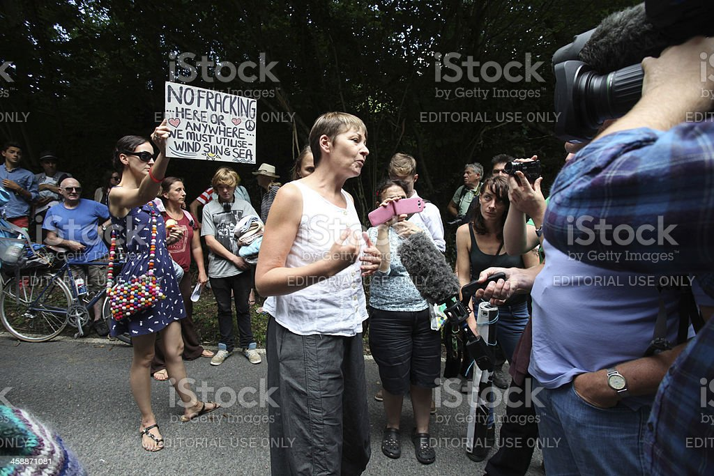 Balcombe Fracking Protests stock photo