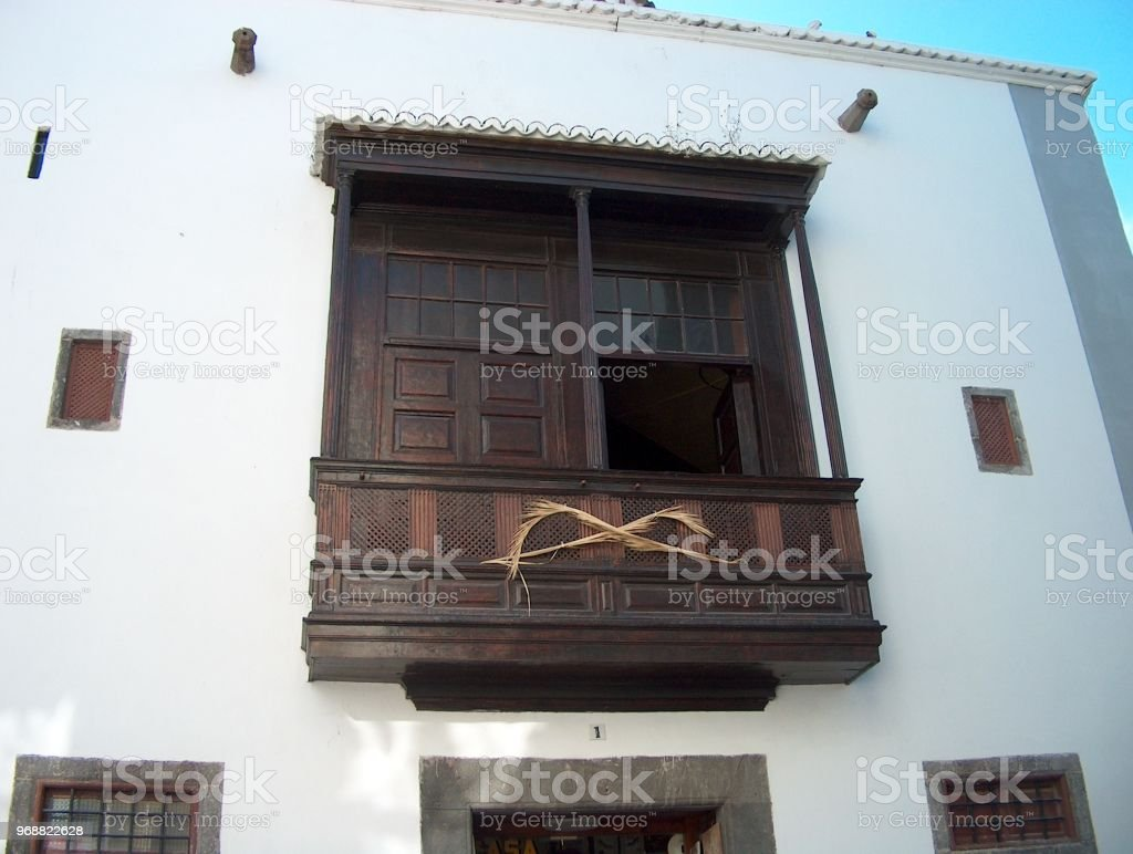 Balcon canario stock photo