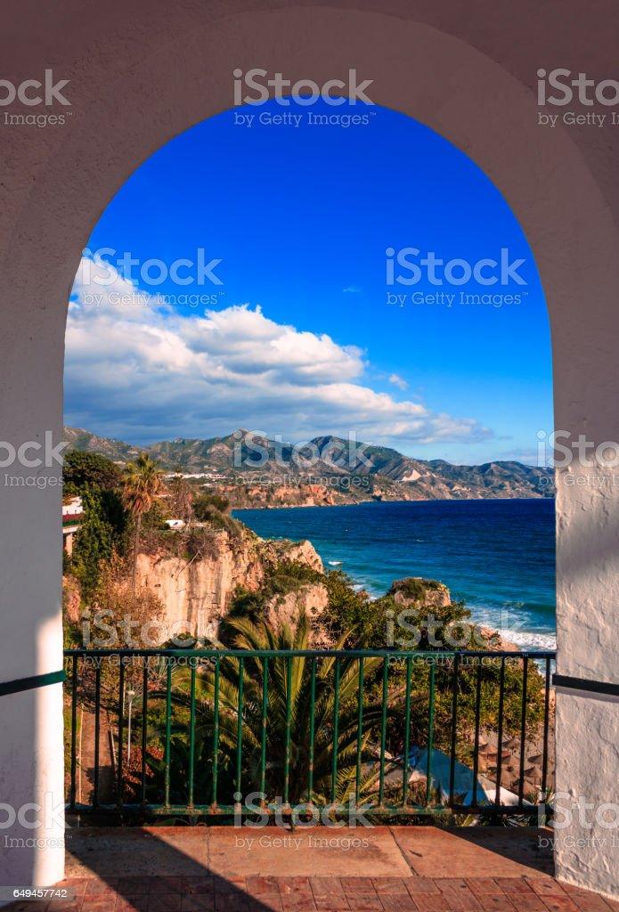 Balcon De Europa, Malaga, Spain stock photo