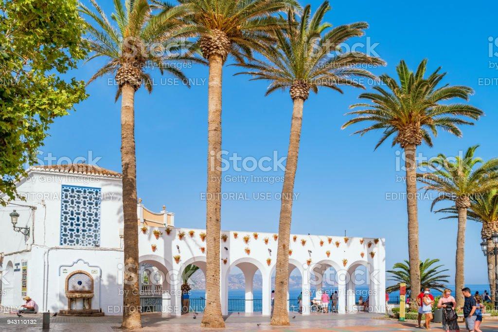 Balcon de Europa promenade in Nerja Costa del Sol Spain stock photo