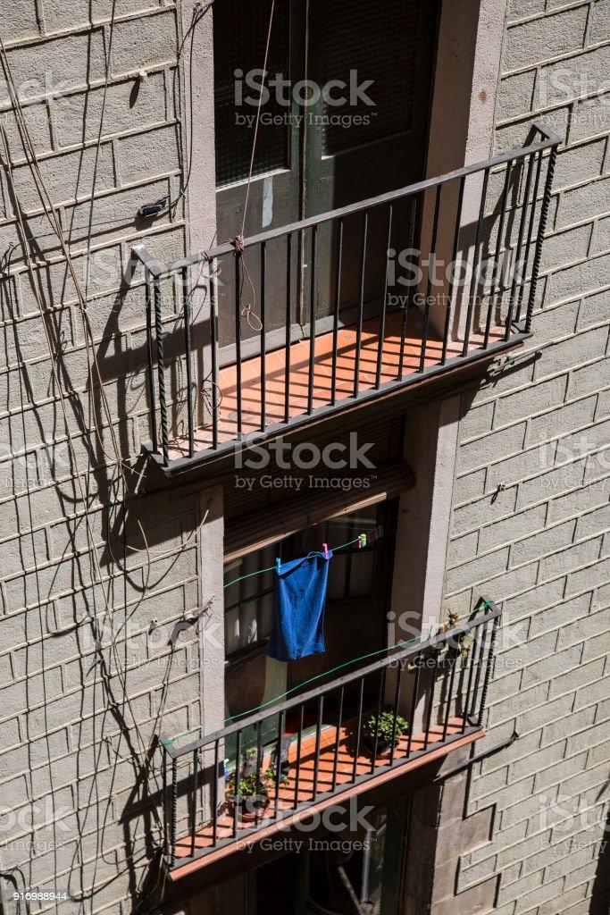 Balcon jumeaux stock photo