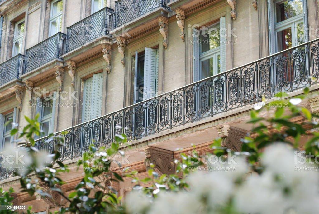 Balcon à Toulouse, France stock photo