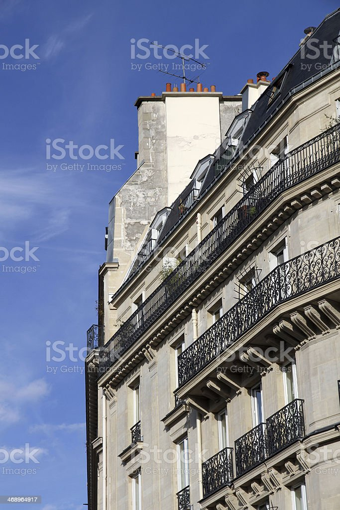 Balconies and Firewalls royalty-free stock photo